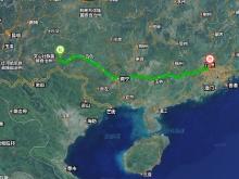 Distance from BaBao to Guangzhou (c) Baidu 2016